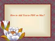 How to Add Text to PDF on Mac