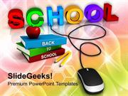 SCHOOL WITH COMPUTER MOUSE EDUCATION CONCEPT PPT TEMPLATE