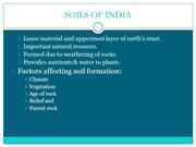 Type of soils