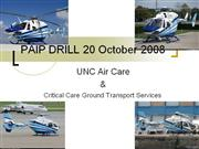 PAIP DRILL 20 October 2008