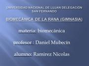 analisis biomecanco de la rana
