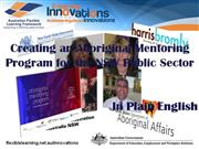 Creating an Aboriginal Mentoring Program in Plain
