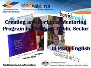Creating an Aboriginal Mentoring Program