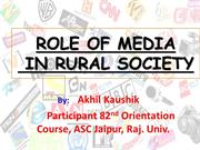 Role of ICt in Rural India