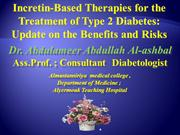 GLP-1-Based Therapies for Treatment of Type 2 Diabetes  Update on the