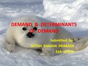 DEMANDS  & ITS  DETERMINANTS