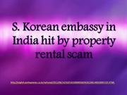 S. Korean embassy in India hit by property rental scam
