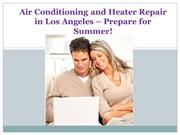 Air Conditioning and Heater Repair in Los Angeles