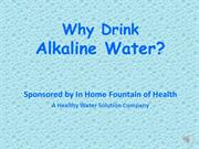 Why Alkaline Water Live audio