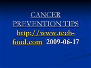 CANCER PREVENTION TIPS