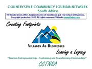 COMMUNITY BASED TOURISM SOUTH AFRICA