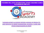 SPORT SERVICES FOR FEDERATIONS AND SCHOOLS AND CLUBS 2011