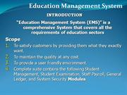 Education Managment System [EMS]