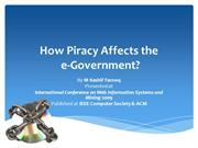 How Piracy Affects the e-Government