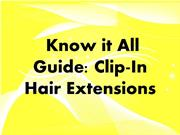 Know it All Guide- Clip-In Hair Extensions