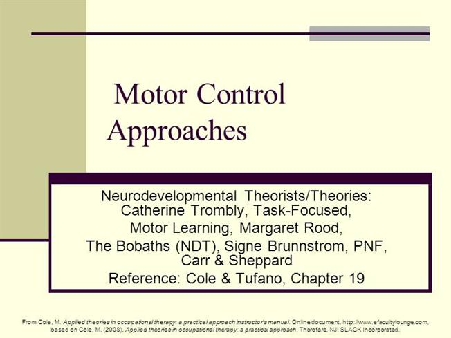 12 Motor Control Approaches R Authorstream