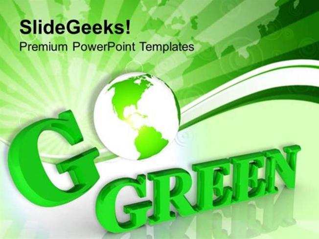 Nature Go Green For Environmental Protection Ppt Template Powerpoint