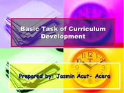 Basic Task of Curriculum Development