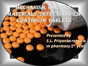 film coating of tablets