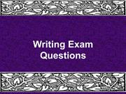 Writing test questions