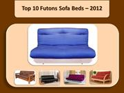 Top 10 Futons Sofa Beds  2012