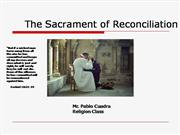 Catholic series: Reconciliation