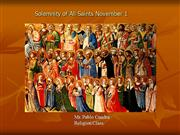 Catholic Series: All Saints' Day