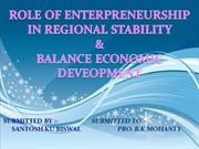 role of entrepreneurship in regional stability & balance development