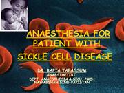 ANAESTHESIA FOF SCD