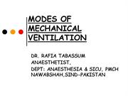 MODES OF MECHANICAL VENTILATION