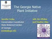 Native Plant Networks Connecting Producers to Users - Georgia Native P