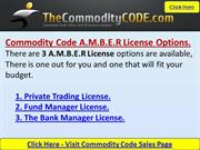 The Commodity Code AMBER Software LicenceOptions