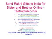 Send Rakhi Gifts to India for Sister Delivery - TheSurpriser.com