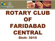 Rotary club of Faridabad Central Distt 3010