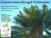 APGA 2012 Griffith - Conservation through Cultivation Supply Demand