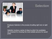 Selection- Process