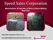 Brick Machines and Equipments by Speed Sales Corporation, Pune