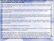 Farm For Sale Agricultural Land For Sale Investment Property for Sale