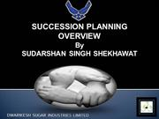 Sudarshan Singh Shekhawat - AGM [HRD] - Succession Planning
