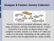 Designer & Fashion Jewellery Collection