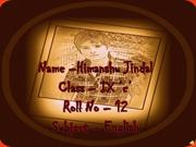 Name - Himanshu Jindal               Roll No