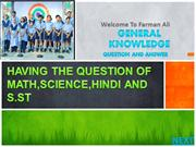 HAVING THE QUESTION OF MATH,SCIENCE,HINDI AND S