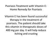 Herbal cure and home remedies for psoriasis