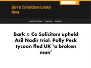 Bark & Co Solicitors upheld Asil Nadir trial Polly Peck tycoon fled UK