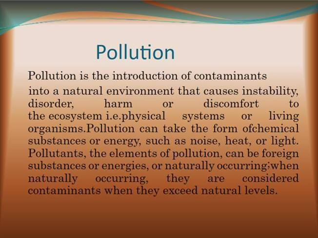 Shubham EVS PROJECT POLLUTION |authorSTREAM