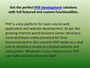 PHP Features And Functions - Benefit For Your Web Applications