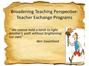 Broadening Teaching Perspective