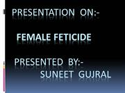 presentation  on  female feticide