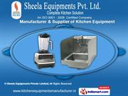 Stainless Steel Kitchen Equipments by Sheela Equipments Private Limite