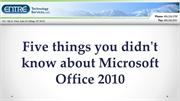 Five things you didn't know about Microsoft Office 2010